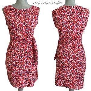 Diane von Furstenberg Leaf Print Faux Wrap Dress 6